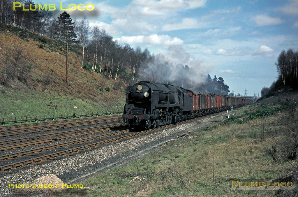 "34053 ""Sir Keith Park"", Winchfield Cutting, 11th April 1964"