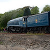 24th April 2011. A4 Pacific 60007 Sir Nigel Gresley passing Culross with the afternoon SRPS Forth Circle Excursion.