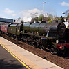 28th April 2012. 46115 Scots Guardsman with the SRPS Forth Circle excursion at Inverkeithing Station.