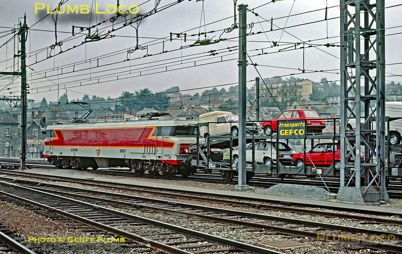 SNCF CC-6518, Brive, Car Train, July  1983