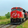 Canadian National, # 323 ``America's Cup Train``, Lacadie,  Quebec