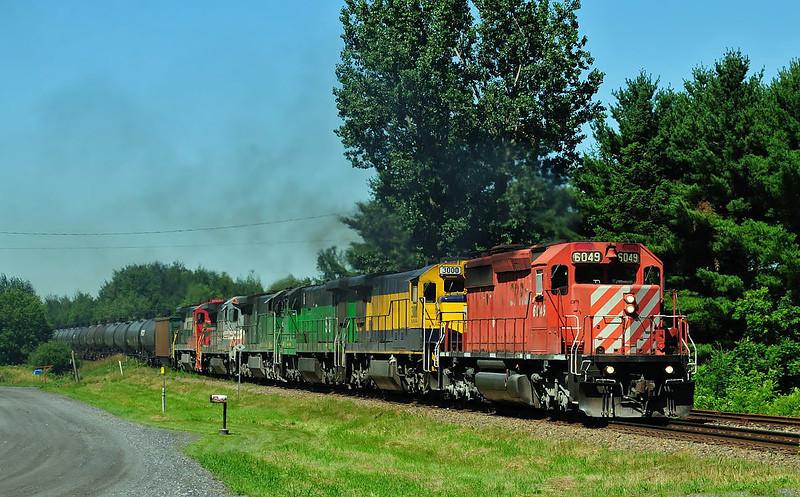 Montreal Maine & Atlantic, crude oil train, Brookport Qc