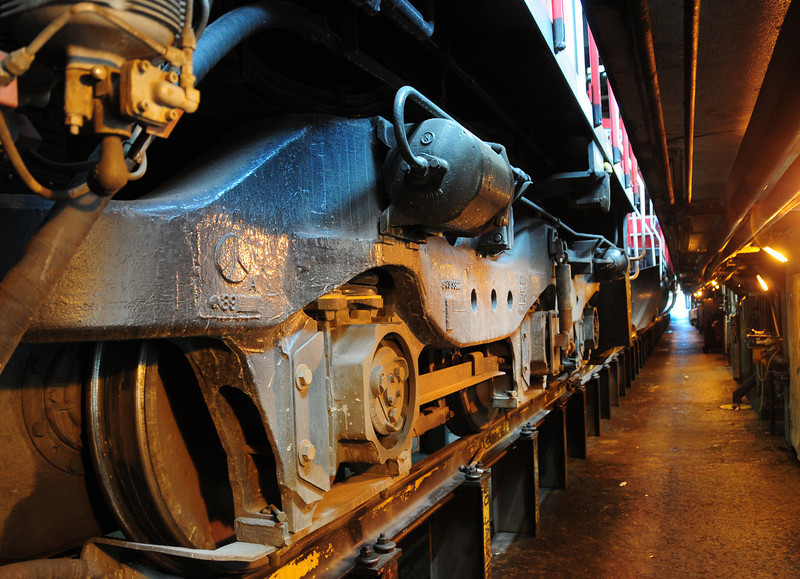 Canadian Pacific #6242 truck assembly, St Luc Diesel Sop, Montreal