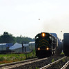 Montreal Maine & Atlantic, Windmill train NBSR 6200 HLCX 6315 MM&A 2005 at Brookport Qc