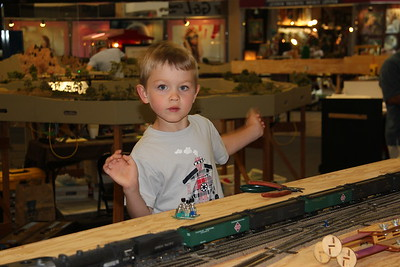 Ethan Risdon excited about the layout.