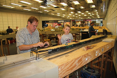 Skip Martin, Ethan Risdon, Jesus Pena, operating trains.  Who says young kids are not into model trains?