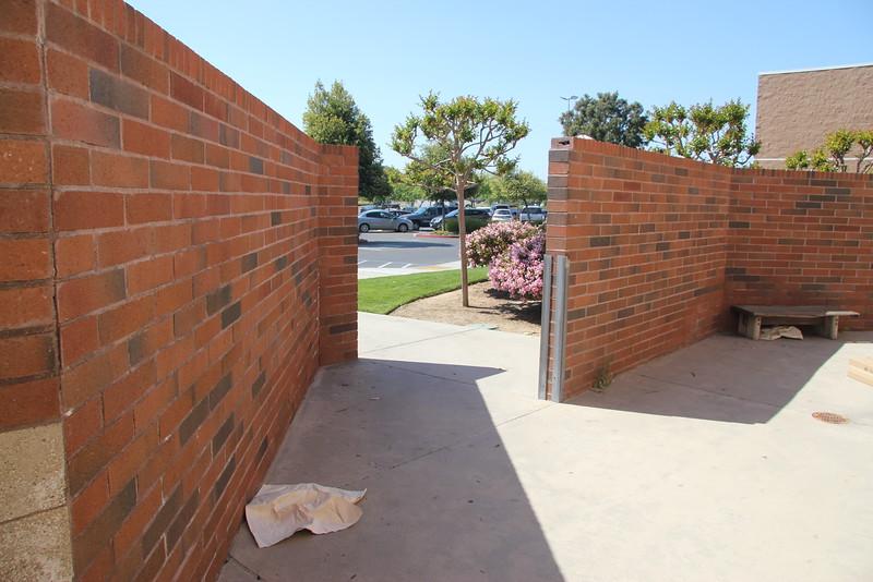 """45 degree bend in access sidewalk, width is 6' 6"""""""