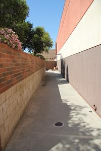Back access area, width is 7'