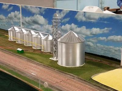 Grain elevator scene