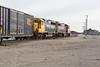 Freight 419 heads into Moosonee.
