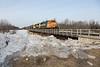 Freight 419 arriving in Moosonee.