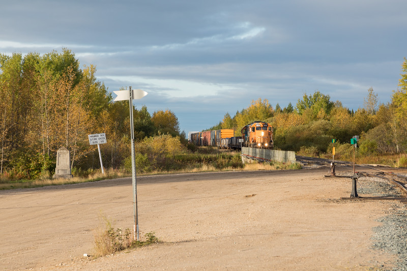 Freight 419 approaching Moosonee.