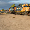 GP38-2 locomotives 1804 and 1806 lead freight 419 into Moosonee.