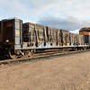 GP38-2 locomotives 1804 and 1806 lead freight 419 into Moosonee. Bulkhead ONT 2012.