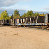 Ties arriving in Moosonee on freight 419.