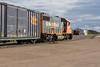 GP38-2 leads freight 419 into Moosonee.