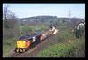 37513 passes Cowley Bridge Jn with 6C12 1142 Meldon Quarry - Westbury
