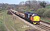37513 passes Yeoford with 6C12 1142 Meldon Quarry - Westbury