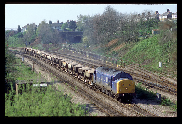 On 07-04-1997 a trip to South Wales started at Gaer Junction, Newport at 10.20 37219 passed by 8T51 10.30 A. D. J. - Swindon