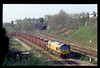 59104 passes Gaer Junction at 09.30 on 07-04-1997 with 7B40 07.50 Port Talbot - Llanwern iron Ore