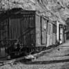Railcars from the Georgetown Loop railroad in Georgetown, Colorado.