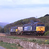 57003 and 57008 are seen near Foxfield heading for Heysham, 3/5/2012.