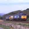 57003 and 57008 are seen near Foxfield heading for Heysham, 3/5/2012.