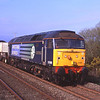 57008 and 57003 are seen near Green Rd returning from Heysham, 3/5/2012.