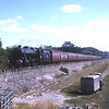 """8F 48151 approaches Grange with a Carnforth to Sellafield Lancashire Railtours charter """"The Brief Encounter Special"""", 16/7/2005."""