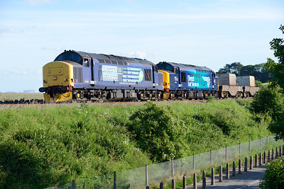 37682+37218 near Grange with the evening flasks to Crewe 16/6/14