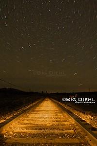 Starlight over Pronghorn Ranch Road.