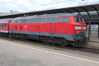 Roster shot of 218 464 at Ulm. 26th October 2009.