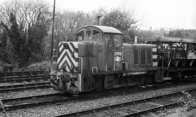 07012 rests between duties at Cwnmar Disposal Point on the Burry Port Branch. 22nd November 1978.
