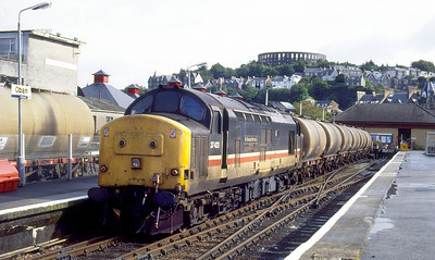 37423 'Sir Murray Morrison 1873-1948' waits to depart from Oban with the southbound empty tanks. 26th August 1992.