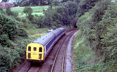 207010 approaches Salisbury at Tunnel Junction. 15th July 1991.