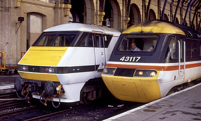 Contrasting front ends at Kings Cross.