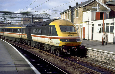 43067 acting as a DVT for a Class 91 propelled service arrives at Kings Cross.
