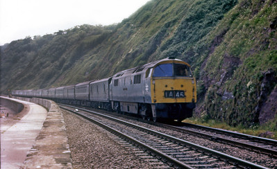 Unidentified Western on an Up working, sea wall. Possibly 1975.