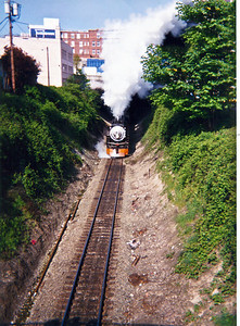 Exiting  the east portal of tunnel under downtown Everett.  1996