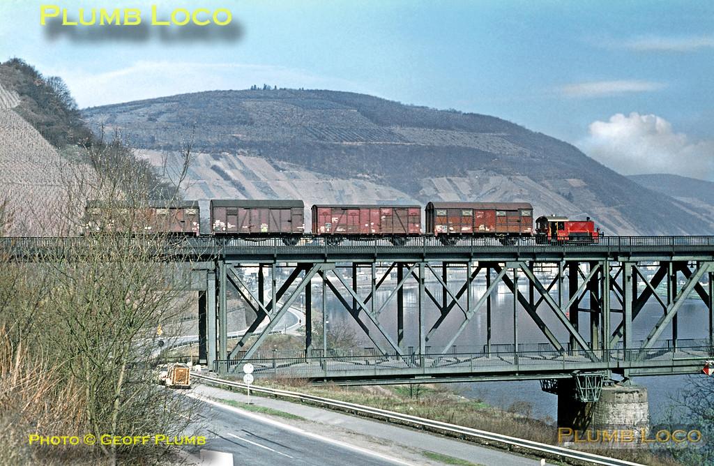 DB Kleinlok, Bullay Viaduct, 5th April 1971