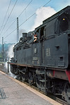 I arrived in Tübingen on the Uerdingen railbus from Freudenstadt to find 078 323-3 raring to go with the 10:36 train to Horb, which finally got away at 10:50. Wednesday 6th May 1970. Slide No. 4952.