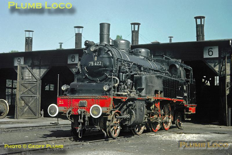 DB No. 75 422, Radolfzell depot, 10th September 1960