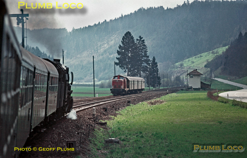 050 560-2, southbound Horb - Rottweil train, 4th May 1970