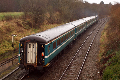 The GlowEx trial gathers speed leaving Ravenglass. 04/01/12.