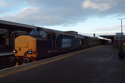 37423 Spirit of the Lakes, upon arrival in Barrow with 2T20. 23/01/12.