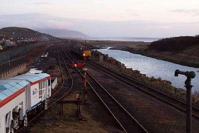 37423 arrives at Sellafield. 23/01/12.