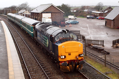37423 Spirit of the Lakes leaves Ravenglass. 04/01/12.