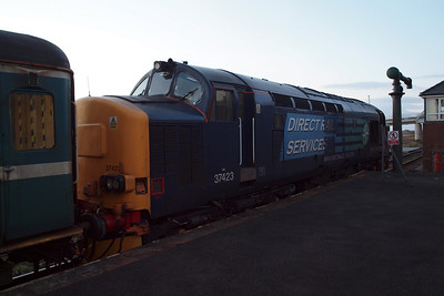 37423 at Sellafield with 2T21 to Carlisle. 23/01/12.