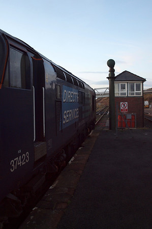 37423 sits on the down at Sellafield. 23/01/12.