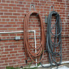 Hoses and wall